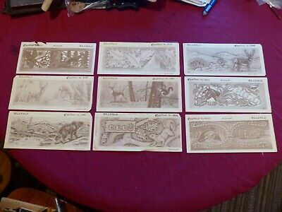 Vintage Leather Patterns - Lot of 9 CRAFTAID Leather Carving Templates Billfolds