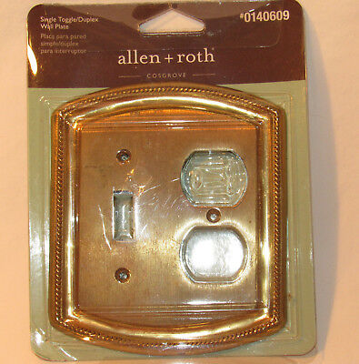 ALLEN + ROTH Single Toggle Outlet Duplex Switch plate Cover COSGROVE NOS