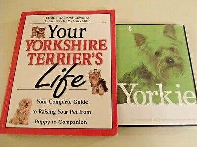 Yorkie Dog Dvd Guide To Grooming + Yorkshire Terrier Book