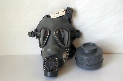 Vintage Finnish M61 Gas Mask Nokia Model 1 with 60mm SUOD 61 T Filter Excellent