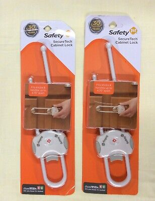 Lot Of 2: Safety 1st SecureTech Cabinet Lock 1 -  NEW - FREE SHIPPING