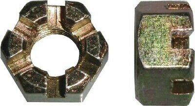 Nuts Castle 14mm Thread Uses 22mm Spanner(Pitch 1.50mm) (Per 20)