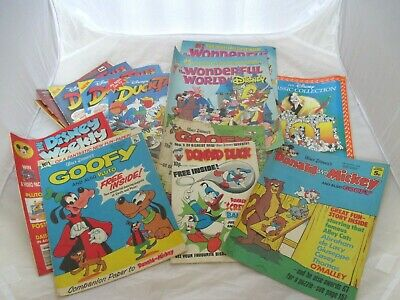60 MIXED VINTAGE COMICS FROM 1970s/1980s/1990- Disney,Eagle,Buster,Mandy,Turtles