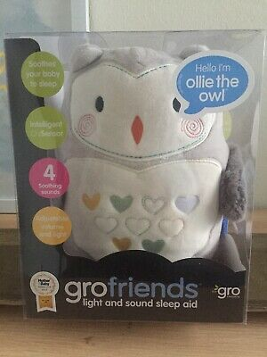 New Ollie The Owl Grofriends Baby Nightlight And Soothing Music Christmas Presen