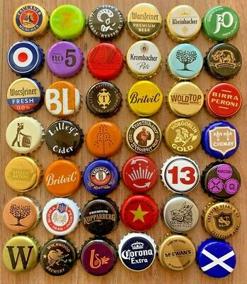 Used 100 X Hooch Beer Bottle Crown Caps Tops Collectable Crafts