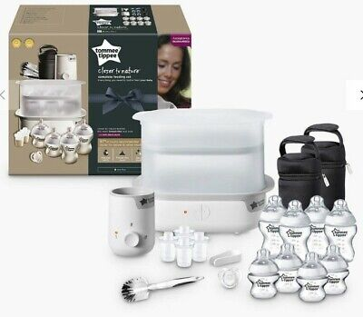 NEW Tommee Tippee Closer to Nature Complete Feeding Set White! Baby