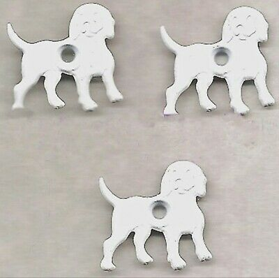 """WHITE DOG 1/8"""" Quicklets Eyelets Pet Puppy Scrapbooking Card Making Stamping"""
