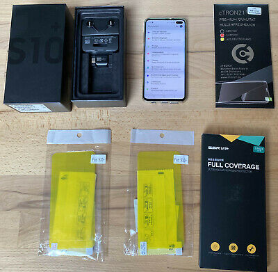 Samsung Galaxy S10PLUS DUOS- 512GB - Ceramic Black (Ohne Simlock), OVP, TOP