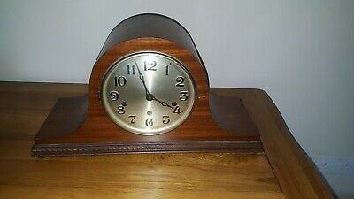 Antique Napoleon Hat Westminster Chiming Mantle Clock