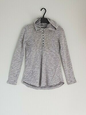 ABERCROMBIE&FITCH girls grey jumper with hood size 13-14 years
