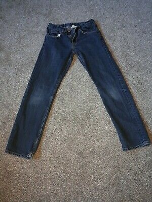 Boys Navy Blue Jeans H&M Age 11-12 Yrs Zip Fly