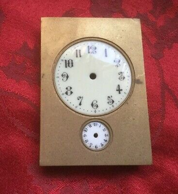 Fine French Clock Dial With Brass Mask Possibly Carriage