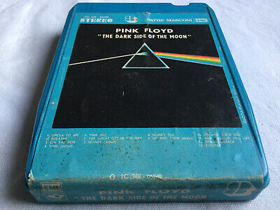 """Rare ! Vintage ! Cassette 8 Pistes Pink Floyd  """"The Dark Side Of The Moon"""" 1973"""