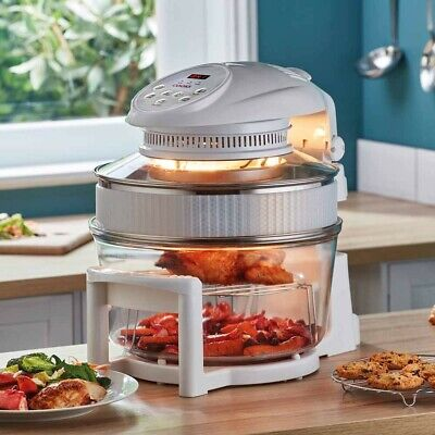 Cooks Professional 17L Hinged Lid Halogen Oven with accessories