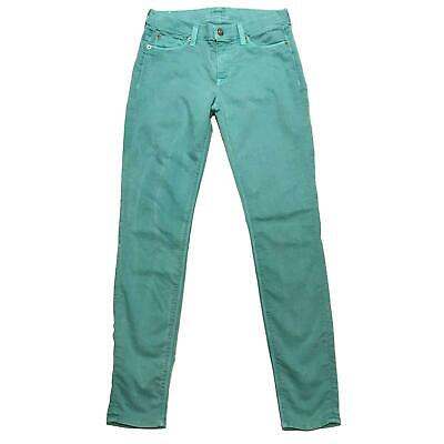 Hudson 26 Nico Super Skinny Midrise Stretch Jeans Green Pants Womens 29 Inseam