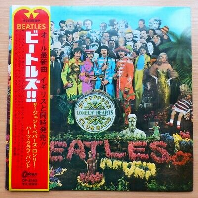 THE BEATLES-SGT.PEPPER'S LONELY HEARTS CLUB BAND-FIRST JAPAN PRESS on RED WAX