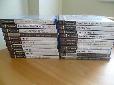 20  x original playstation 2 ps2 games  - job lot bundle various