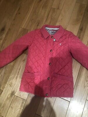 Girls Joules Jacket Pink Age 6 YeArs