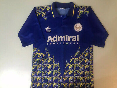 Leeds United 1992/1993 Away Football Shirt Admiral Size S Adult, Fair Condition