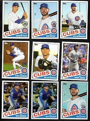 2020 Topps Series 1 Base/1985/Silver Packs Chrome Team Set Lot Chicago Cubs (26)