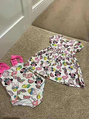 Minnie Mouse 4-5 Years Summer Bundle Dress & Swimsuit