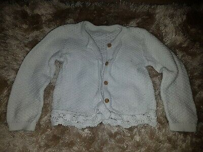 Baby Girls White Crochet Cardigan Size 18-24 Months