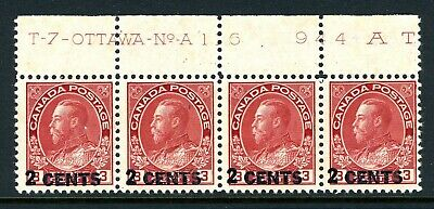 CANADA Scott 139 - NH - Upper Plate 116 - 2¢ on 3¢ Admiral Provisional (.019)