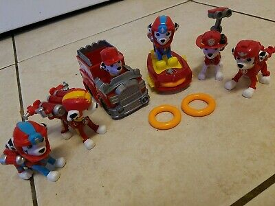 Paw Patrol Marshall Toy And Vehicle Lot