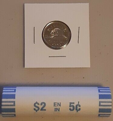 CANADA 2020 New 5 cents ORIGINAL BEAVER Circulation coin (UNC From mint roll)