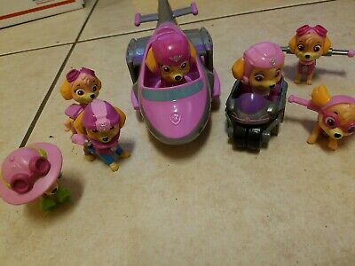 Paw Patrol Skye Figure And Toy Lot