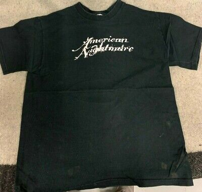 VTG Fruit of The Loom American Nightmare Tour Boston Hardcore Band T Shirt Sz L
