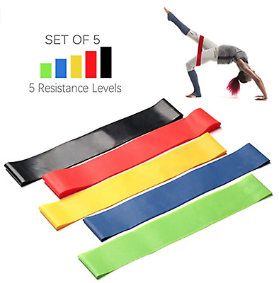 Resistance Bands Exercise Work Out pack of 5 or purchase individually
