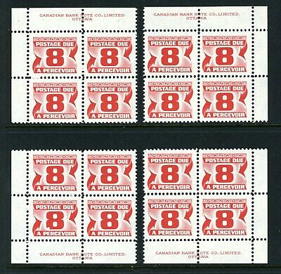 CANADA Scott J34 - NH - Matched Set - 8¢ Third Red Postage Due Issue (.019)