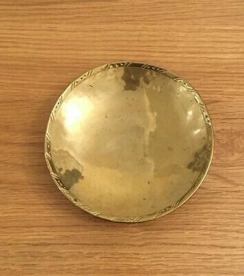 Small antique brass bowl - Hugh Wallis - Arts & Craft circa 1910-20