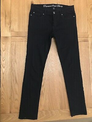 Ladies Gap Premium Super Skinny Black Jeans 10/30 R  Think The UK Size 14