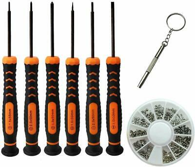 Hscakee Eyeglass Repair Kit with 6 PCS Flathead and Phillips Screwdrivers and