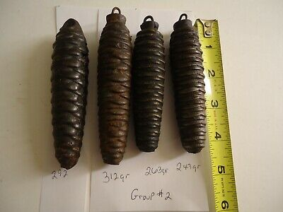 (4) Cast Iron Cuckoo Clock Pine Cone Weights Group 2