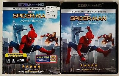 Marvel Spider-Man Homecoming 4K Ultra Hd Blu Ray 2 Disc Set + Rare Oop Slipcover