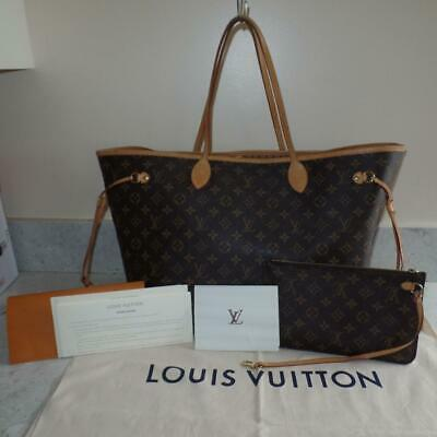 2017 Receipt Louis Vuitton Monogram Neverfull GM Shoulder Bag w/ Pouch $1510+TAX