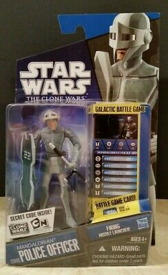 Star Wars The Clone Wars Cw09 Mandalorian Police Officer Rare Tcw 2010