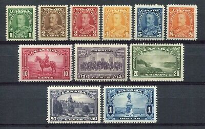 CANADA Scott 217 to 227 - NH - Complete Set of George V Pictorial Issue (.070)