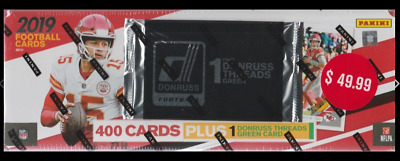 2019 DONRUSS Football NFL Trading Cards 401 ct. Factory Set W/Threads Green Pack