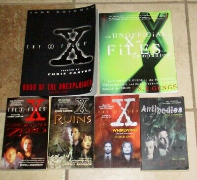 Lot 6 X Files Books Ground Zero Whirlwind Book Unexplained Unofficial