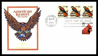 Mayfairstamps US FDC 1999 American Kestrel Block First Day Cover wwd_56563