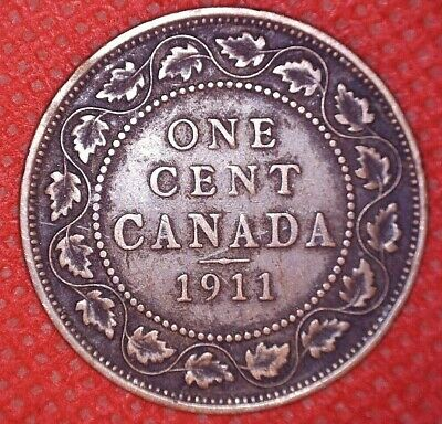 1911 Copper Canadian Large Cent Coin 1-Cent Canada