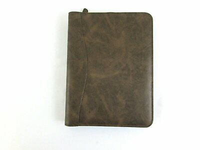 """Day-Timer Brown Simulated Distressed Leather Planner 43184 10 1/2"""" x 7 3/4"""""""