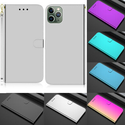 Mirror Wallet Flip Leather Case Cover For iPhone 11 XS Max XR 11 Pro 7 8 Plus X