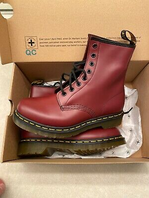 Women's Shoes Dr. Martens 1460 W CHERRY RED Brand New Never Worn