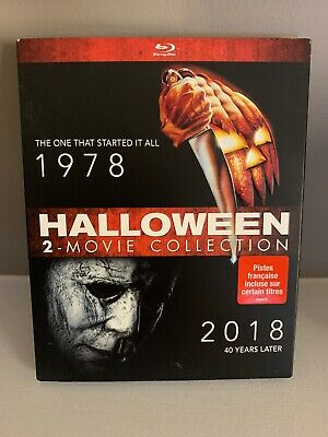 NEW Halloween 1 & 2 Movie Collection Blu Ray w Slipcover Canada Bilingual
