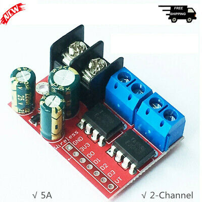 5A 2-Channel DC Motor Driver Module CW CCW PWM Speed Control for Relay Light